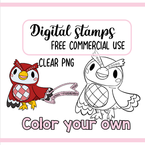 Celeste Animal Crossing Tampon Digital à colorier