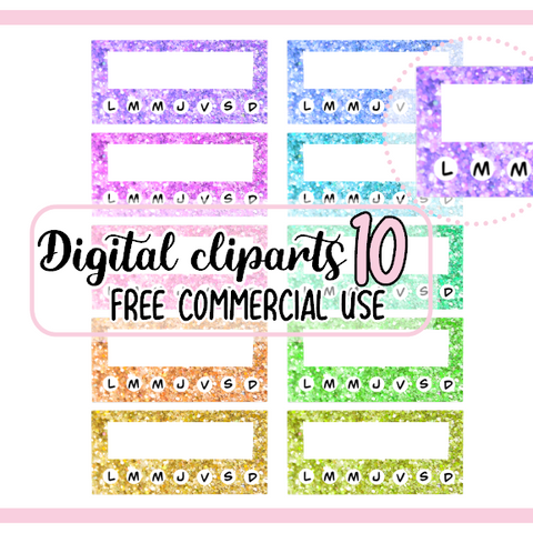 10  Paillettes petits tracker Clipart Digital