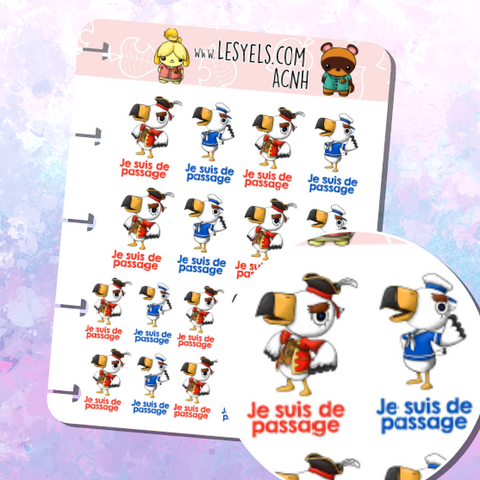 Animal Crossing Gulliver et Gullivarrr Suivi Stickers à imprimer