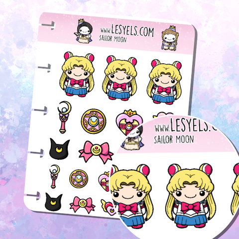 Sailor Moon stickers à imprimer