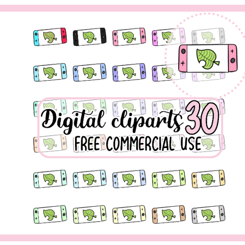 30 Switch Animal crossing Clipart Digital à colorier