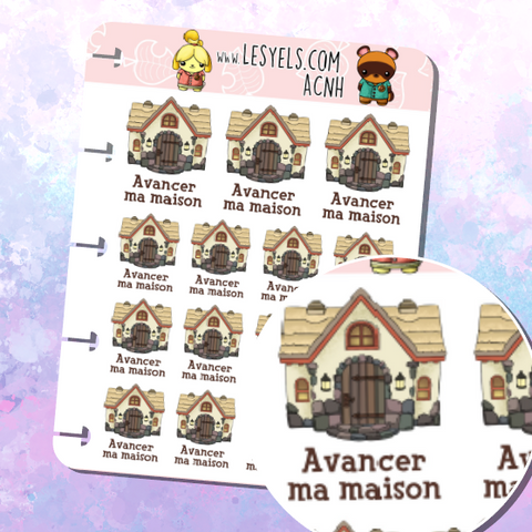 Animal Crossing Décorer ma maison Stickers à imprimer