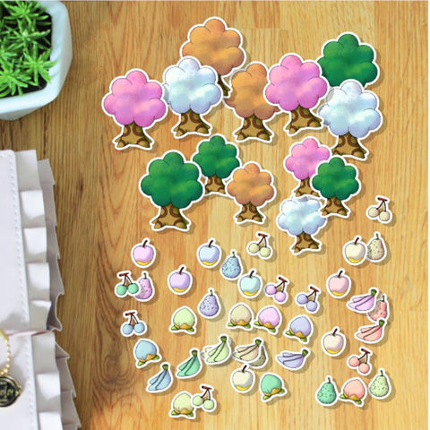 Animal Crossing Fruits et Saisons Pastels Die Cuts à imprimer