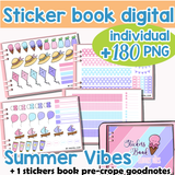 Stickers book Summer Vibes Mega Pack pour Planner Digital
