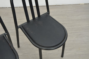 Set of Four Black Dining Chairs by Robert Mallet Stevens
