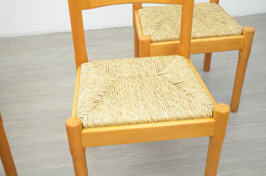 Set of Four Carimate Dining Chairs by Vico Magistretti