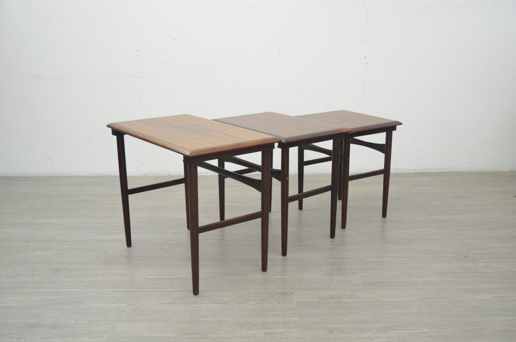 Nest of Tables in Teak & Rosewood