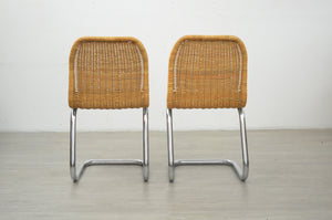 Pair of Dutch Rattan Chairs