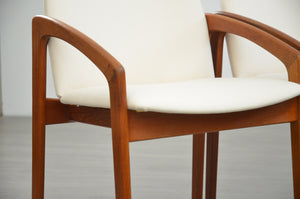Set of Four 'Paper-Knife' Dining Chairs in the Style of Kai Kristiansen