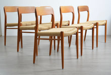 Load image into Gallery viewer, Set of 6 Model 75 Dining Chairs by Niels Moller
