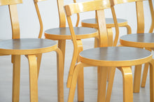 Load image into Gallery viewer, Set of 6 Vintage '68' Dining Chairs by Alvar Aalto