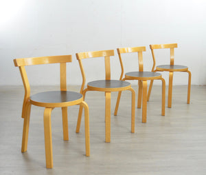 Set of 6 Vintage '68' Dining Chairs by Alvar Aalto