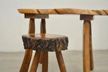 Load image into Gallery viewer, Primitive Table & Stool, 1960s