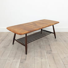 Load image into Gallery viewer, Mid Century Ercol Coffee Table with Magazine Rack, Restored