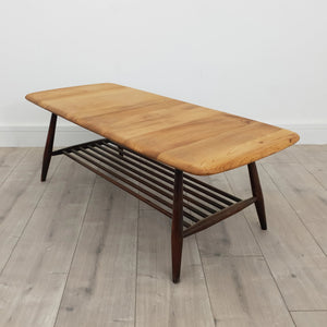 Ercol Mid Century Coffee Table with Magazine Rack