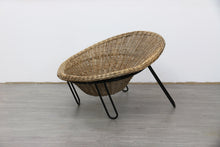 Load image into Gallery viewer, Conran Style Wicker Lounger 1960s