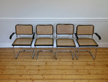 Load image into Gallery viewer, Set of 4 Black Marcel Breuer Style Cesca Chairs