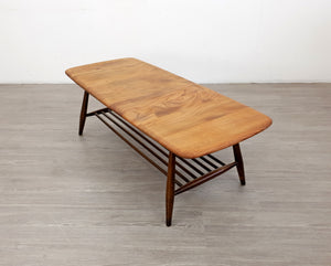 Mid Century Ercol Coffee Table with Magazine Rack