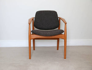 Mid Century Arne Vodder Model 188F Armchair for France & Daverkosen 1956.