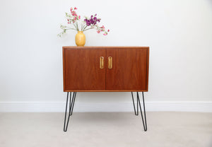 Mid Century G Plan Cupboard Unit in Teak on Hairpin Legs.