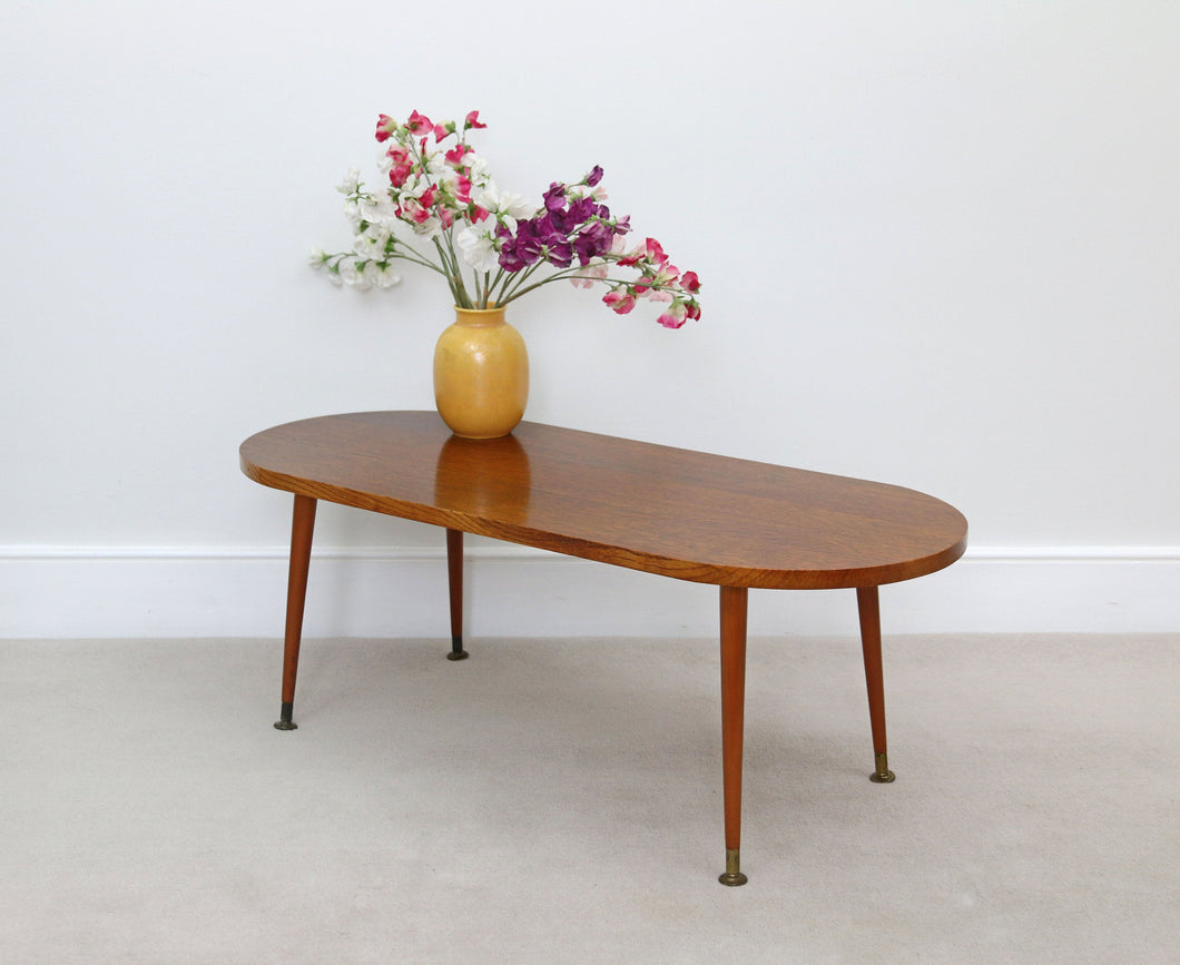 Mid Century Style Coffee Table on Dansette Legs