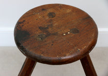 Load image into Gallery viewer, Heavy Mid Century Rustic Milking Stool