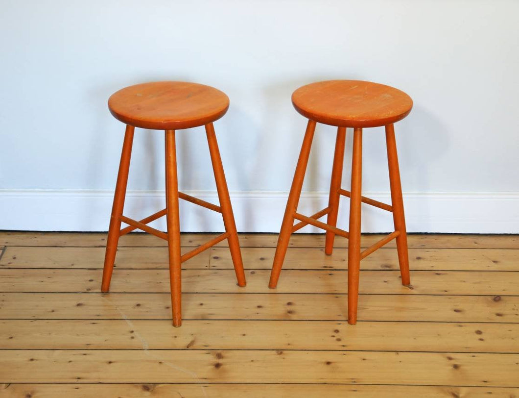 Pair of Vintage Stools by Hagafors