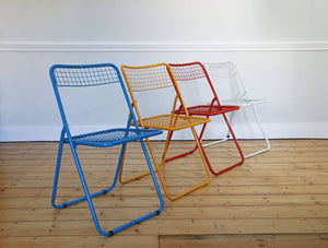 Set of Four Multi Coloured Dining Chairs by Niels Gammelgaard for IKEA, 1979