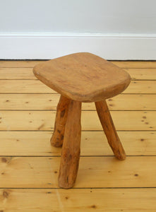 1960s Rustic French Stool