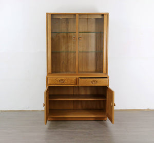 Ercol Sideboard and Glass Drinks Cabinet