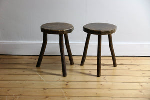 Rustic Timber Farmhouse Stools