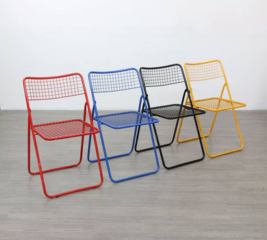 Set of Four Folding Chairs by Niels Gammelgaard for IKEA, 1980s