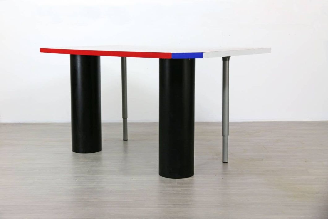 Postmodern Dining Table or Desk for the Memphis Milano Style, 1980s