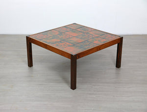 Large Tiled Danish Style Mid Century Coffee Table