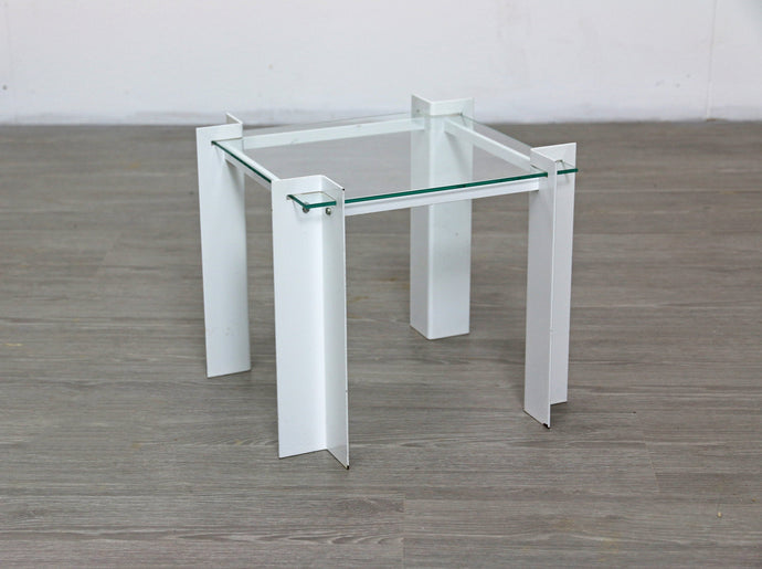Small Postmodern Glass Side Table