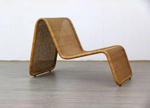 Rattan Lounger After Tito Agnoli, 1960s