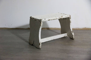 Rustic Stool with White Paint, 1960s