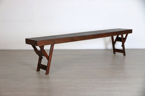 Vintage Wooden Bench, 6 Foot