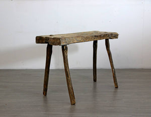 Primitive Elm Bench or Coffee Table