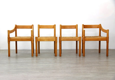 Set of 4 Carimate Dining Chairs by Vico Magistretti