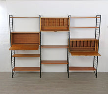 Load image into Gallery viewer, Ladderax Wall Unit in Teak and Steel