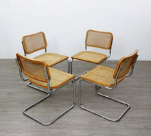 Load image into Gallery viewer, Set of Four Cesca Style Dining Chairs, After Marcel Breuer