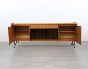 Nathan Sideboard / Media Unit Raised on Hairpin Legs