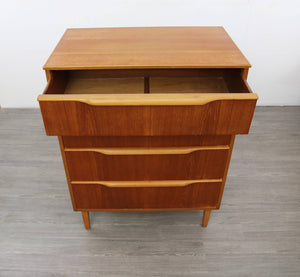 "Mid Century ""Tall Boy"" Chest of Drawers"