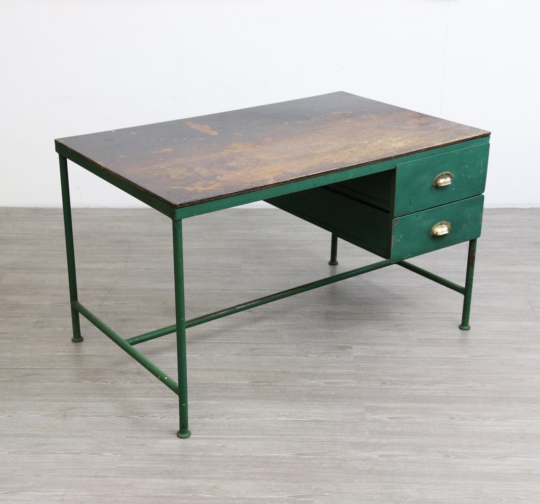 Industrial Metal Desk, 1950s