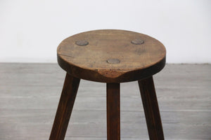 French Milking Stool, Mid-century