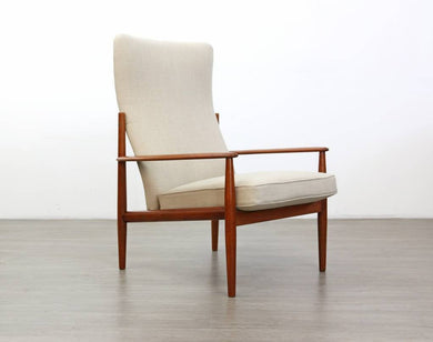 Lounge Chair by Grete Jalk for France & Son Mid Century High Back, 1960s