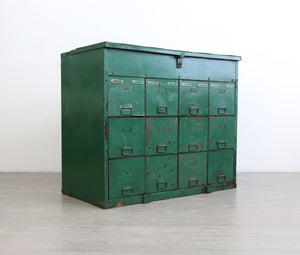 Industrial Cubed Drawers and Storage Unit, 1950s