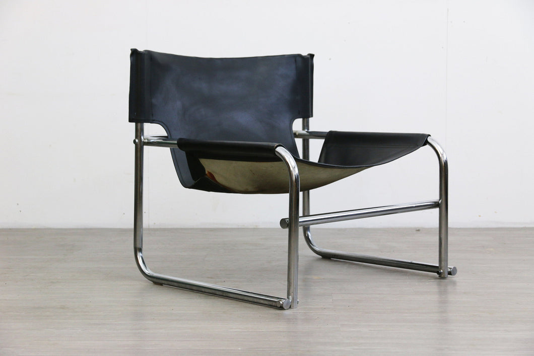 Sling Leather Chair by Rodney Kinsman for OMK, 1960s