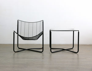 Jarpen Lounge Chair and Coffee Table by Niels Gammelgaard for IKEA, 1980s